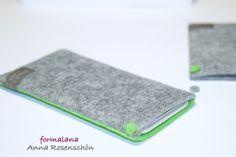 grau grün Hülle Handy Filz Punkt für iPhone 4 5 6p von ❤formalana   ANNA ROSENSCHÖN❤                                                       made in Bonn mit ❤❤❤  auf DaWanda.com
