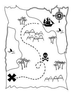 die schatzkarte der piraten   schatzkarte, piratenschatzkarten, schatzkarten für kinder