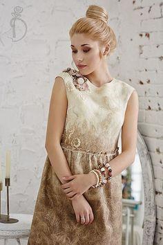 Irina Demchenko Ирина Демченко Валяное платье «Сливочное утро»