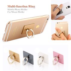 Find More Holders & Stands Information about 2016 Hot Ring Universal Mobile Phone & Tablet Holder for iPhone 5 5s 6 6s Plus iPad Mini 2 3 4 Finger Grip Stand Car Mount Stent,High Quality Holders & Stands from Neuss Store on Aliexpress.com