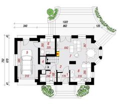 Model de casa cu 2 terase