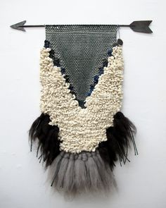 Weaving workshops and these guys at all-roads: wolf weaving. Now at Platform in Highland Park, Los Angeles. Modern Macrame, Weaving Textiles, Paper Weaving, Tapestry Weaving, Textile Fiber Art, Wolf, Crochet Motif, Love Art, Decoration