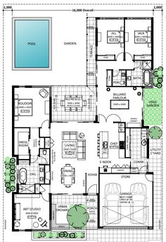 Floor Plan Friday: Front porch, pool, enook
