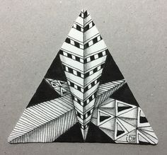 3Z Zentangle with Static, ING variation and Jonqal