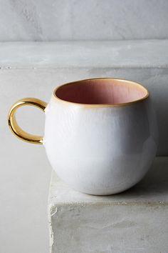 pink + gold mug