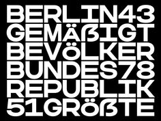 Woodkit Text Regular Solid Sharp by Ondrej Jób Each letter is a perfect square. - Monospaced squared characters fill the space offering structure. The one or two curves break convention, but reconnect the space like a wormhole. Font Design, Web Design, Type Design, Lettering Design, Layout Design, Typography Layout, Typography Letters, Typography Poster, Graphic Design Typography