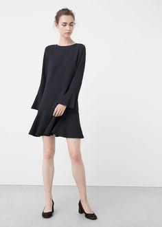 Ruffled dress   MANGO