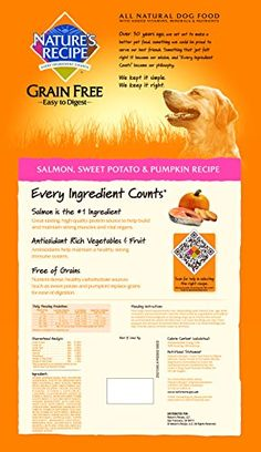 Nature's Recipe Grain Free Easy to Digest Salmon, Sweet Potato & Pumpkin Recipe Dry Dog Food, 24-Pound Check it out--> http://mypets.us/product/natures-recipe-grain-free-easy-to-digest-salmon-sweet-potato-pumpkin-recipe-dry-dog-food-24-pound/ #pet #food #bed #supplies