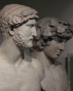Marble Busts of Hadrian & Antinous, from Rome, Roman Empire, British Museum | by Following Hadrian