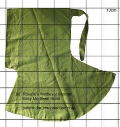 Rosalie's Medieval Woman - Basic Hood Pattern