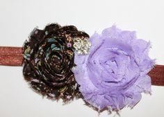 Shabby Flower Headband for newborn, toddler,  girls, women. $8.00, via Etsy.