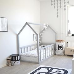 Big kid room Love the house frame bed! is part of Toddler floor bed - Big Girl Rooms, Baby Boy Rooms, Kids Rooms, Baby Bedroom, Kids Bedroom, Kids Room Bed, Nursery Room, Girl Nursery, Master Bedroom