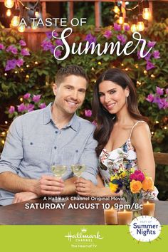 Competing restaurant chefs Gabby (Roselyn Sanchez) and Caleb (Eric Winter) may realize theyve got more in common than they thought. A Taste of Summer premieres August 10 on Hallmark Channel part of Summer Nights! Hallmark Channel, Films Hallmark, Hallmark Weihnachtsfilme, Eric Winter, Family Christmas Movies, Hallmark Christmas Movies, Holiday Movies, Family Movies, Roselyn Sanchez