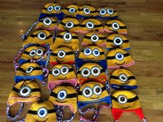 Ravelry: KnitwitVic's Minions hats- a teacher in my Ravelry group made these for her 8th grade class... her students are LUCKY to have her!