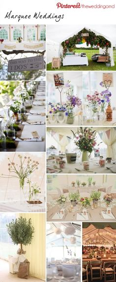 Marquee Wedding Decorations ~ Join Us On Pinterest | The Wedding of My Dreams