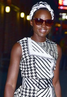 Lupita Nyong'o outside 'The Late Show with Stephen Colbert' studios in New York on September 28, 2016