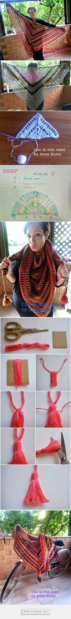 Con le mie mani by Anna Bruno: Tutorial scialle crochet - created via http://pinthemall.net