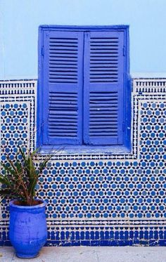blue windows and tiles , Marrakech, Morocco Bleu Indigo, Moroccan Style, Moroccan Blue, Moroccan Theme, Blue Aesthetic, Belle Photo, Design Hotel, Shades Of Blue, Color Inspiration