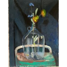 Glass Jug, Modern Art, The Originals, Paper, Frame, Flowers, Painting, Home Decor, Picture Frame