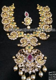 Peacock Pachi Necklace - Jewellery Designs