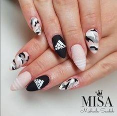 MUNDO DE UNAS stamping plates polishes nailart – Mundo de Unas Camo Nails, Swag Nails, Neon Acrylic Nails, Gel Nails, Stylish Nails, Trendy Nails, Sneaker Nails, Nike Nails, Mexican Nails