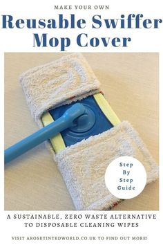 How To Make A Reusable Swiffer Mop Cover - here is a DIY sewing tutorial for a zero waste, upcycled, sustainable mop pad for a flash speed mop or swiffer mop. Up cycle old towel and cotton clothing with this step by step DIY sewing tutorial. Tutorial Sewing, Sewing Tutorials, Sewing Ideas, Sewing Patterns, Cleaning Hacks, Cleaning Wipes, Swiffer Pads, Old Towels, Towel Crafts