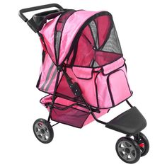 GHP Pink Zephyr 3-Wheel Dog Carrier Jogger Pet Stroller Pet Dog Cat Supplies -- Learn more by visiting the image link. (This is an affiliate link and I receive a commission for the sales)