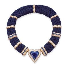 A SAPPHIRE AND DIAMOND NECKLACE, BY HEMMERLE | Christie's