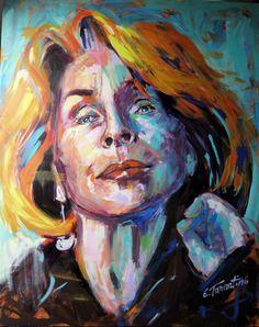 Senta Berger - Acryl auf leinwand 80 x 100cm