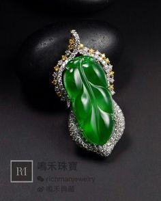 滿綠又放光的翡翠葉子。。。@jimmyrichman2016 #jade #highendjewelry #jadeitenecklace