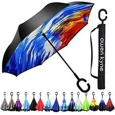 Tortoise Swimming In Water Sturdy Windproof and UV Protection Compact Travel Umbrella for Women Men Double Layer Inverted Umbrella Cars Reverse Umbrella with C-Shaped Handle