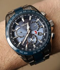 Seiko Astron GPS Solar Dual Time Watch Review   aBlogtoWatch Stylish Watches, Luxury Watches, Cool Watches, Watches For Men, Army Watches, Seiko Watches, Spy Watch, Seiko Sportura, Gadget Watches