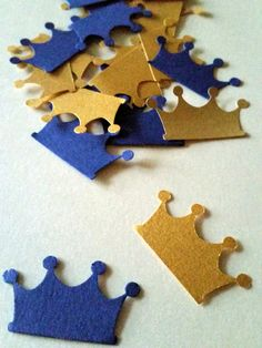 Royal Blue and Gold Crown Party Decorations by SugarPlumPartyCo