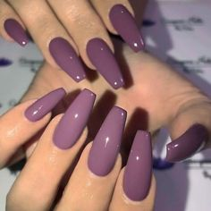 Plum purple on long coffin nails Image and nail design by GC fiti. Plum purple on long coffin nails Image and nail design by GC fiti. Summer Acrylic Nails, Best Acrylic Nails, Summer Nails, Coffin Acrylic Nails, Purple Acrylic Nails, Acrylic Colors, Purple Nail Art, Purple Nail Designs, New Nail Designs