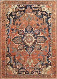 "Persian Heriz Serapi rug, 10'1""X14'1"", 1880, Keivan Woen Arts Gallery"