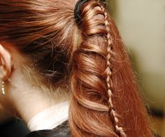 The ladder braid is a great hairstyle because it is simple to do but can fancy up a ponytail so you are set for prom, wedding, or (if you can do it on yourself) any day! Follow this tutorial to find out how to do it yourself!