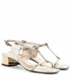 Lanvin - Metallic-leather sandals  - mytheresa.com GmbH