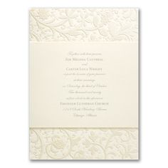 Garden of Pearls - Invitation. Available at Persnickety Invitation Studio.