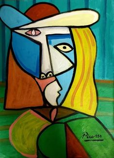 Pablo Picasso Cubism Women Spanish Hand Painted SignedYou can find Pablo picasso and more on our website. Pablo Picasso Drawings, Picasso Portraits, Picasso Paintings, Picasso Woman Painting, Famous Art Paintings, Indian Paintings, Oil Paintings, Cubist Art, Hand Painted Signs