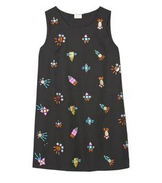 rocket ship shift dress
