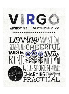 """Virgo Zodiac Sign Art Print Zodiac Sign Art - Illustration by Michael Mullan - Printed on 13x19"""" archival, acid-free Epson Velvet Fine Art Paper - Shown in 11x14 - Frame not included"""