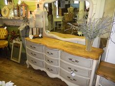 Beautiful dresser..love the floating mirror..annie sloan paint