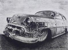 Hotrod  Day 9 by Jaye Williamson Pencil ~ 7 in x 5 in