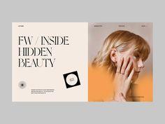 AUTUMN by Jesus Sandrea Simple Website Design, Website Design Layout, Homepage Design, Blog Layout, Web Layout, Layout Design, Logo Inspiration, Website Design Inspiration, Identity Design