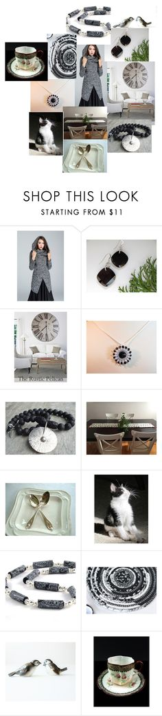 In Glorious Black & White by inspiredbyten on Polyvore featuring Goebel