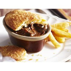Beef bourguignon pies with chips recipe - By Australian Women's Weekly, A modern…