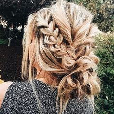 Messy Braid updo hairstyle #hairstyles #updo