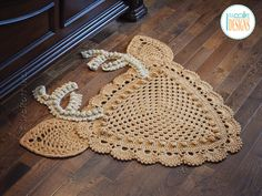 JUST RELEASED! Crochet pattern PDF for making a lace deer animal rug or reading mat using granny square technique