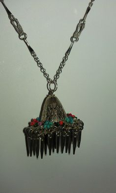 Vintage Unique Chinaman's Hat Necklace by 9thStVintage on Etsy, $25.00