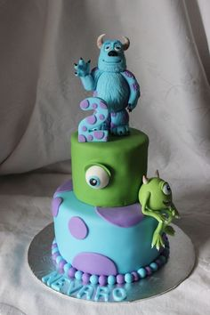 Monster's Inc birthday cake.  change the 2 to a 19 and we will be in business lol!